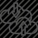 arrow, cloud, data, download, loading, seo, transfer icon