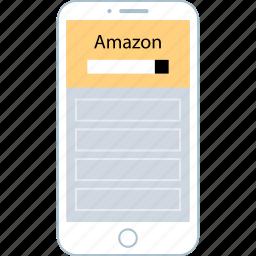 amazon, device, mobile, shopping icon