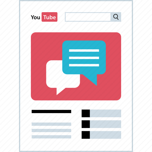 chat, comment, comments, youtube icon