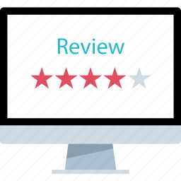 five, online, review, stars icon