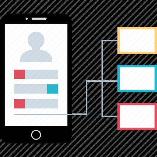 acquisition, mobile, seo, web icon