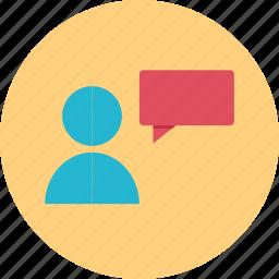 conversation, online, talk, web icon