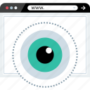 eye, views, watch, www icon