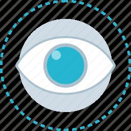 eye, time, views, watch icon