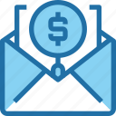 business, email, finance, marketing, money, search, seo icon