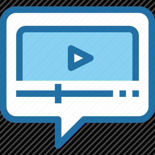 business, marketing, message, seo, talk, video icon