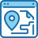 browser, business, gps, location, map, seo icon
