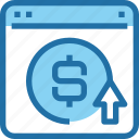 browser, business, marketing, money, ppc, seo icon