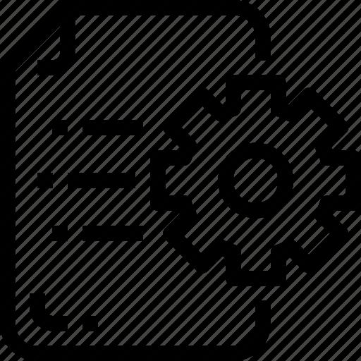 business, development, document, file, gear, process, seo icon