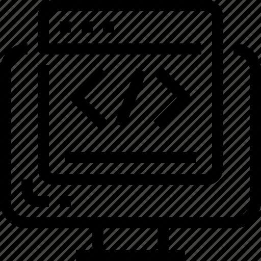 business, code, coding, develop, development, html, seo icon