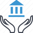 bank, banking, business, hands, online icon