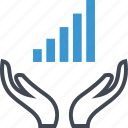 bars, business, data, graph, high, report icon