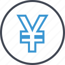 bank, banking, business, yen icon