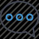 bubble, chat, seo, talk icon