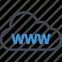 cloud, online, website, www icon
