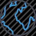 earth, globe, internet, message, send, seo icon