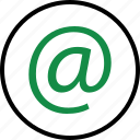at, email, mail, seo, sign icon