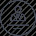 boss, man, profile, student, user icon