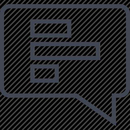 analytics, bars, chat, data icon