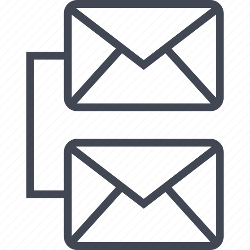 connect, email, emails, mail, two icon
