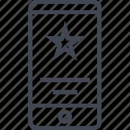 favorite, mobile, safe, secured, star icon