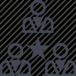 favorite, group, star, team icon