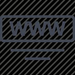 lines, online, seo, webbutton, www icon
