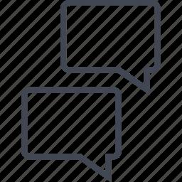bubble, chat, conversation, talk, two icon