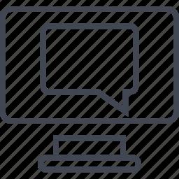 bubble, chat, mac, online, pc, talk, web icon