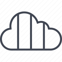 cloud, lines, three, weather icon