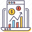 business analytics, business data, business infographic, business report, financial analytics icon