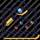 cyber monitoring, monitoring eye, seo monitoring, web eye, web visibility, webview icon