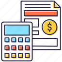 budget, business accounting, business budget, data budget, financial accounting icon