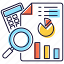 business analysis, business analytics, business audit, business budget, data analysis icon