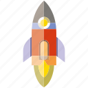 fire, rocket, rocket ship, space icon