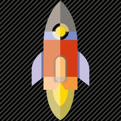 fire, rocket, rocket ship, space icon