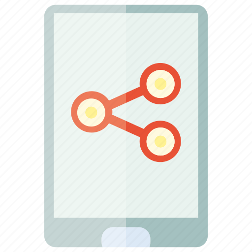 chart, device, graph, mobile, phone, share icon