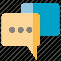 bubble, chat, communicate, message, speech, talk icon