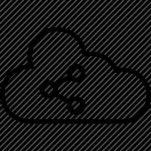 cloud, cloud sharing, social media cloud, social share, social sharing icon