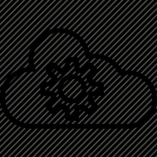 cloud computing, cloud optimization, cloud service, cloud service optimization, cloud settings icon