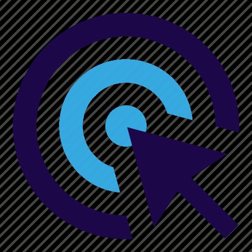 click, marketing, seo, target, web icon