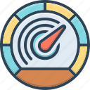 accelerate, arrow, barometer, control, measurement, performance, speedometer
