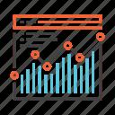 analytics, chart, graph, growth, report, seo, statistics icon
