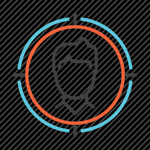audience, focus, goal, marketing, optimization, seo, target icon