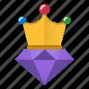 crown, gem, high, quality, seo icon
