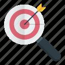focus, keyword, optimization, search, seo, target icon