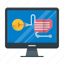 ecommerce, online, shopping, solution, store icon