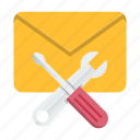 email, mail, marketing, seo, support icon