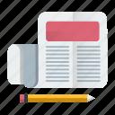 blog, content, news, press, release, seo icon