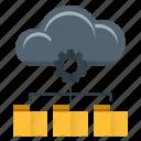 cloud computing, data, database, management, server icon